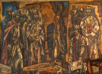 Murales alusivos a León de Vela Zanetti 1970. San Marcelo. León